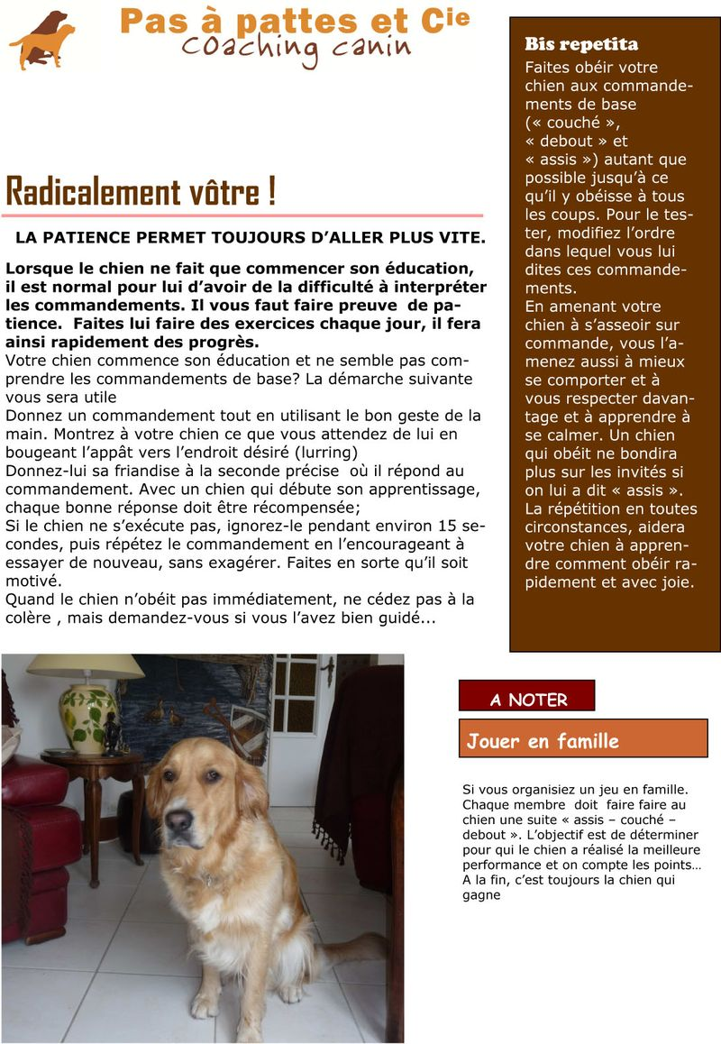 Texte Blog du 1 septembre  2012
